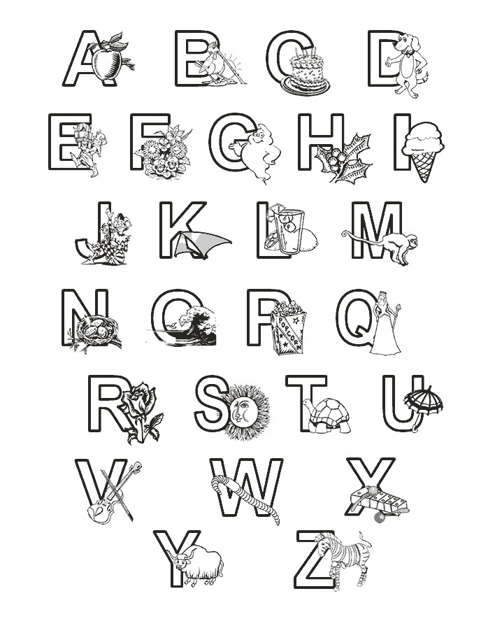 abc coloring pages printable - 123 Coloring Pages