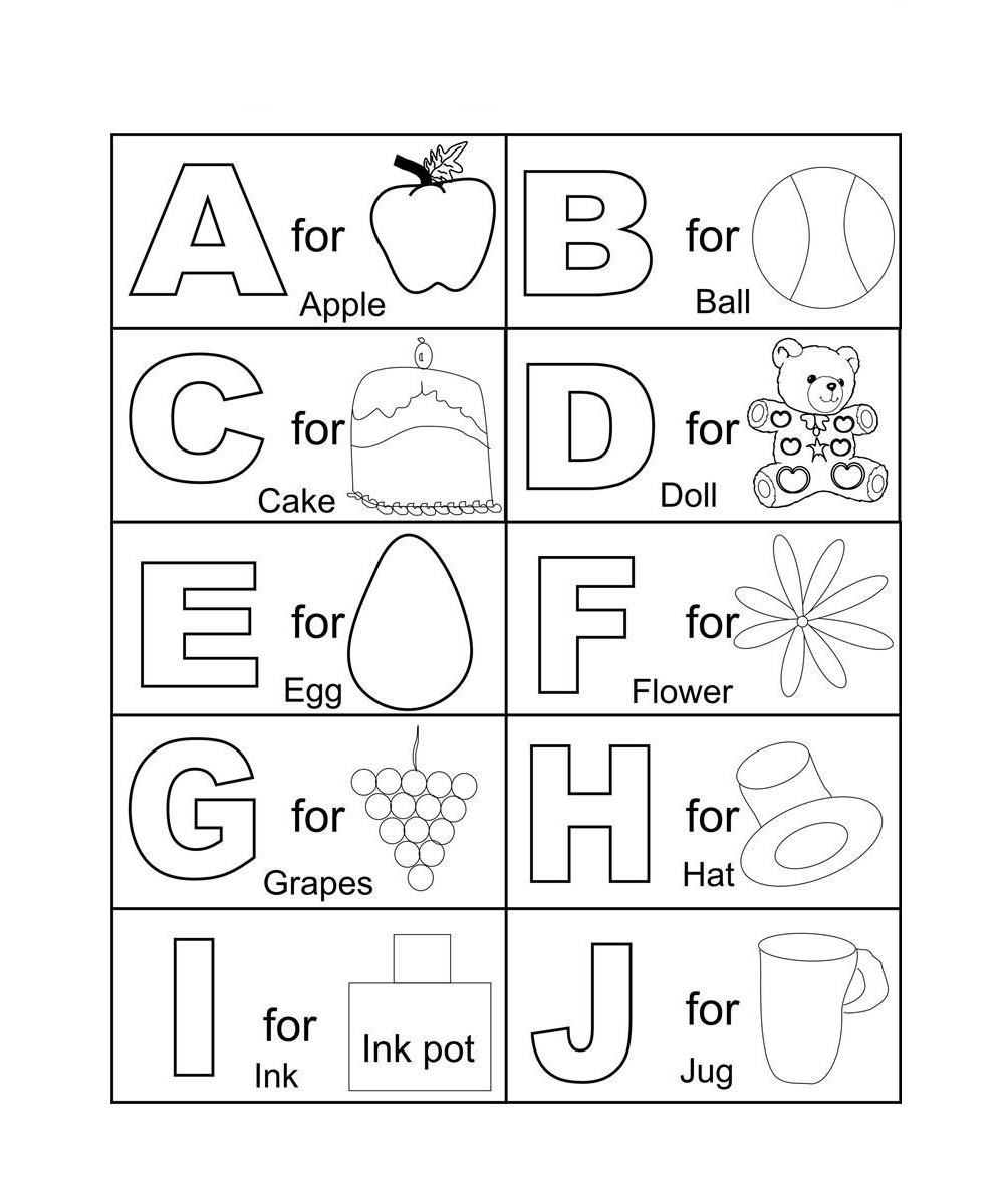 Abc Coloring Pages Interesting Free Printable Abc Coloring Pages For Kids Inspiration Design