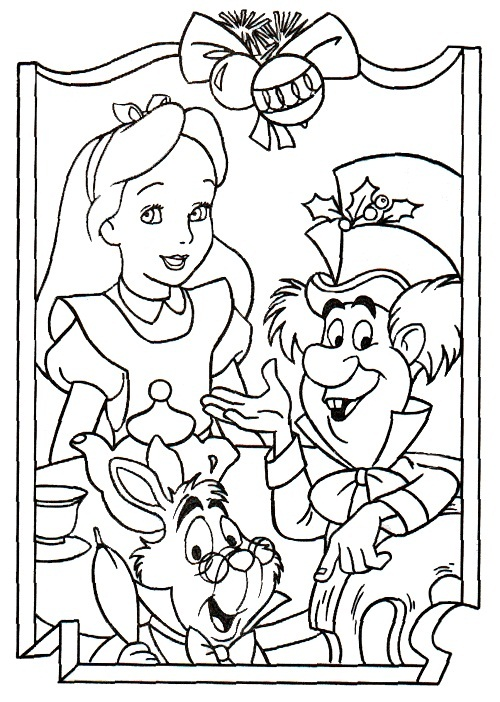 alice in wonderland coloring pages for kids - Alice Wonderland Coloring Page