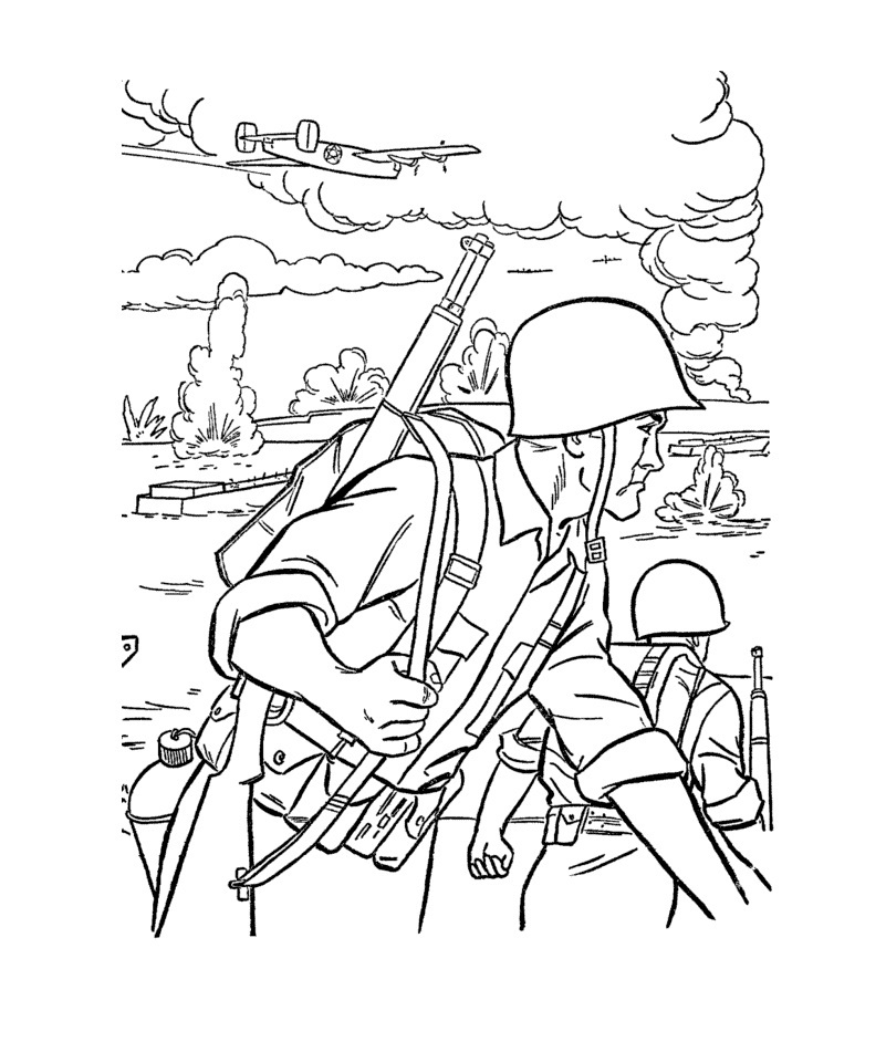 army men coloring pages - Military Coloring Pages Printable