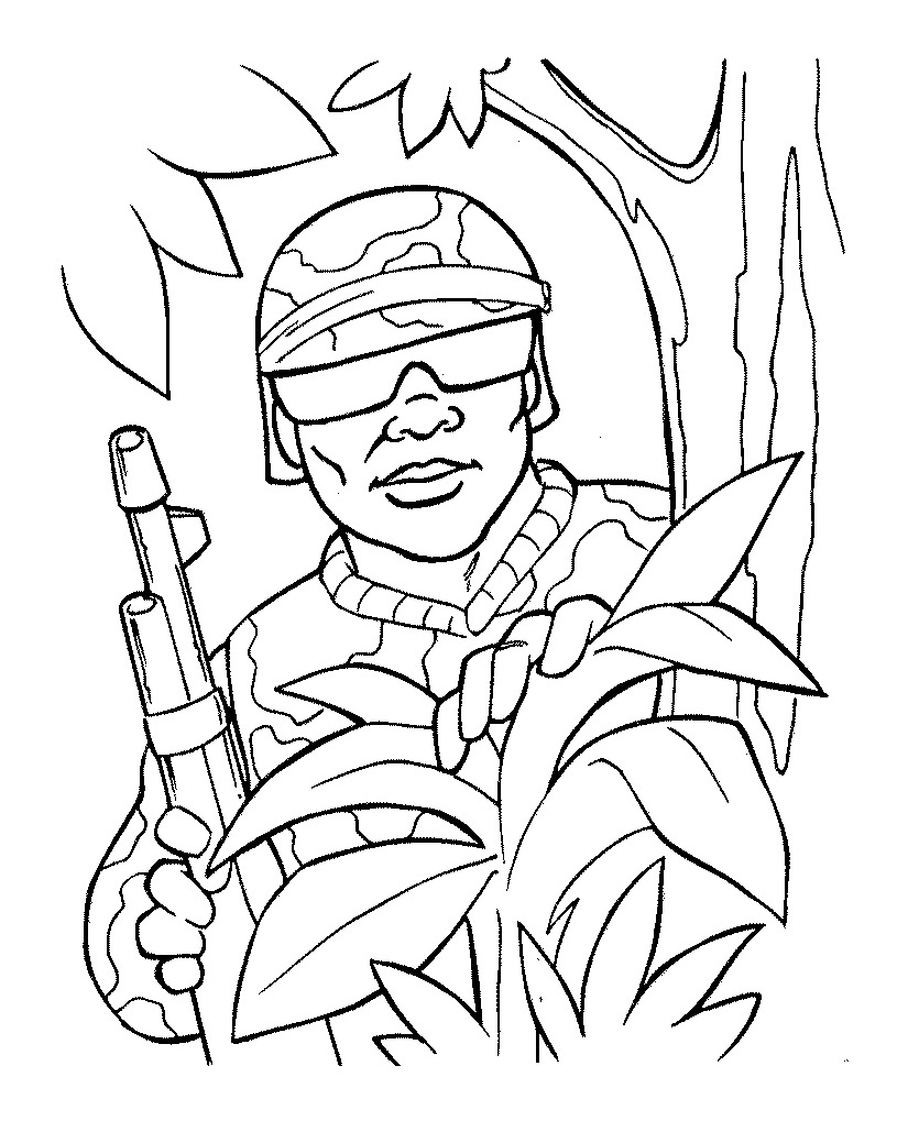 army soldier coloring pages