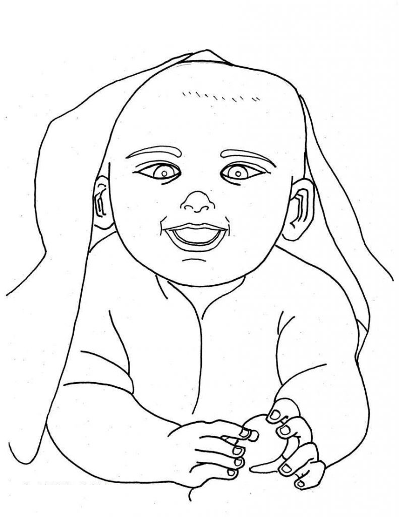 Free Printable Baby Coloring Pages For Kids Baby Colouring Pages To Print