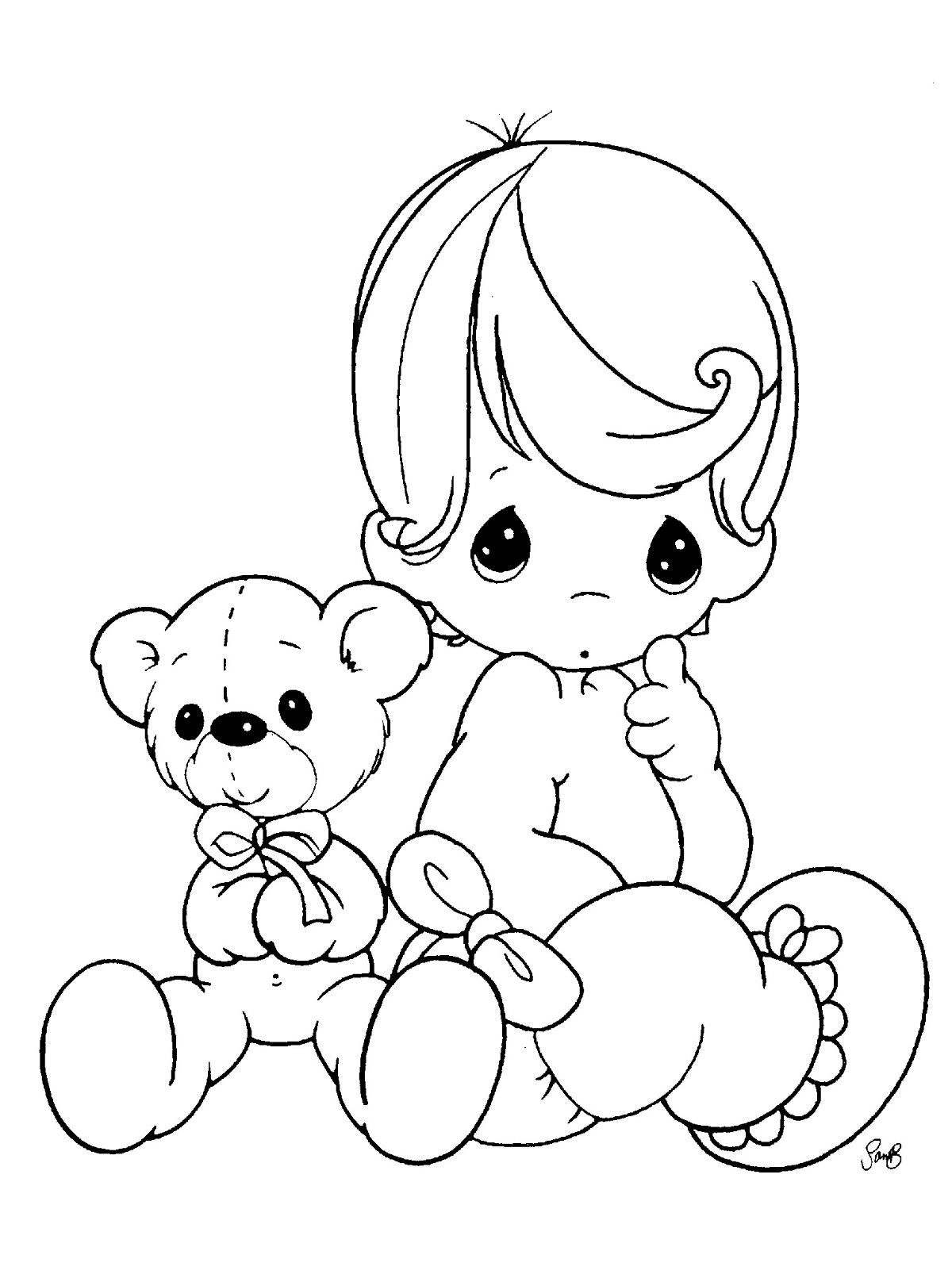 Free Printable Baby Coloring Pages For Kids Printable Baby Coloring Pages