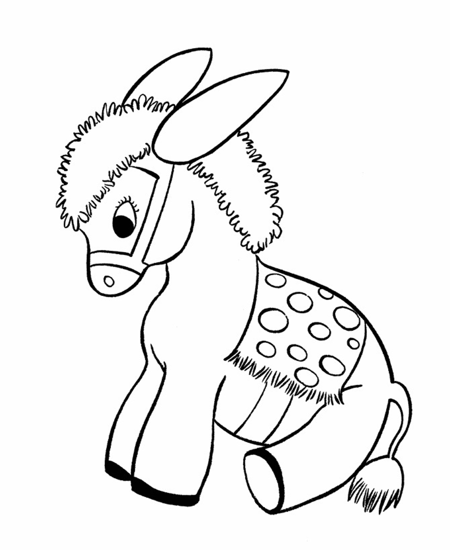 baby donkey coloring pages - Donkey Coloring Pages