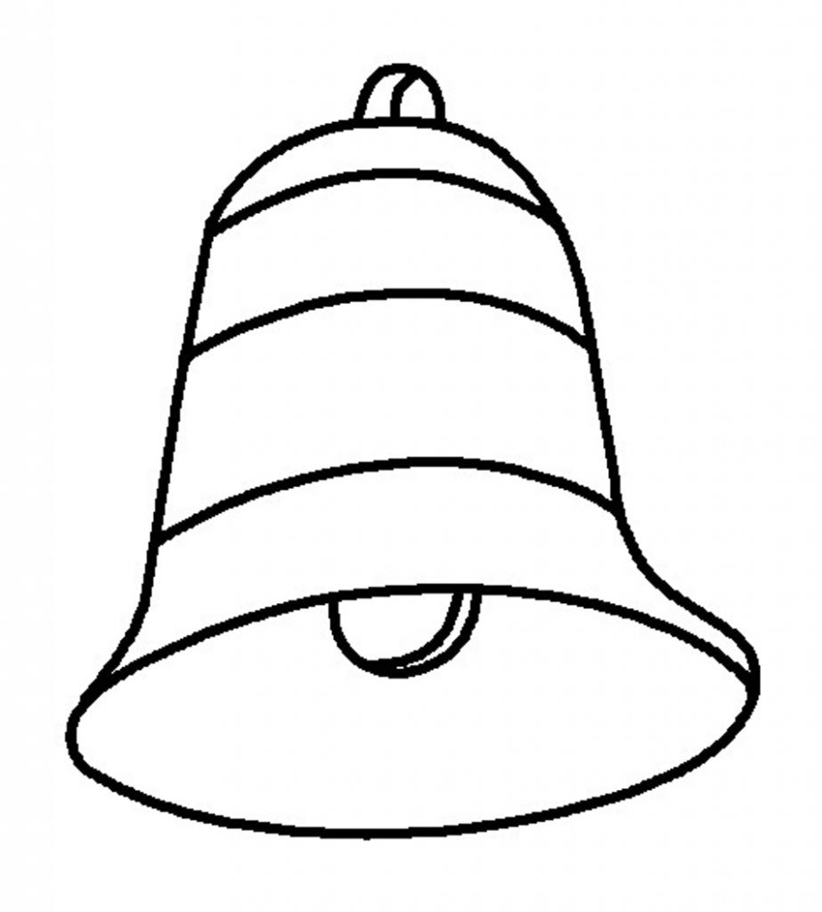 Free printable bell coloring pages for kids Coloring book for toddlers