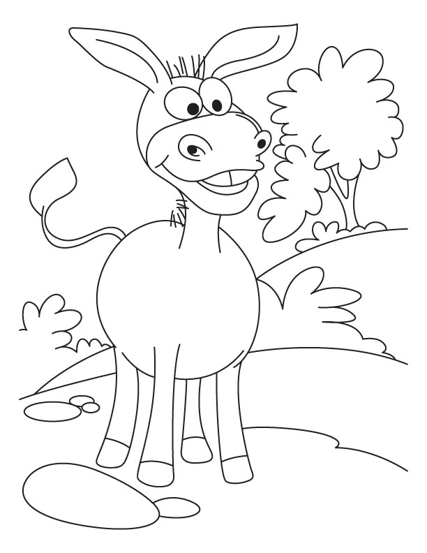 cartoon donkey coloring pages - Donkey Coloring Pages