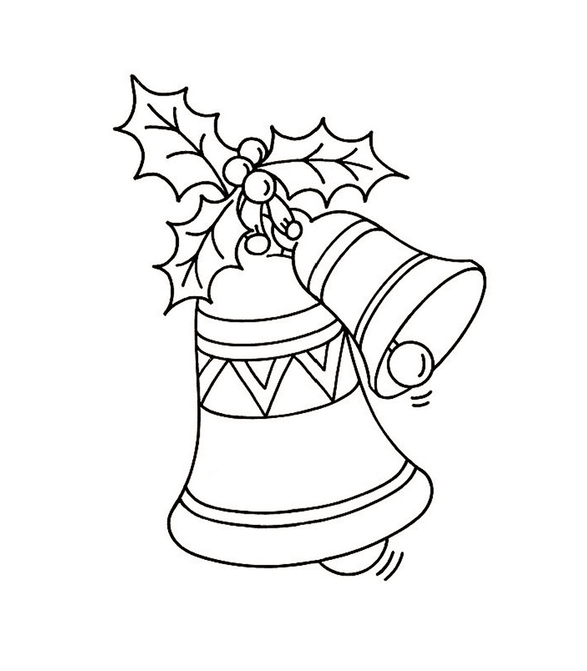 Free printable bell coloring pages for kids for Coloring pages for kids christmas