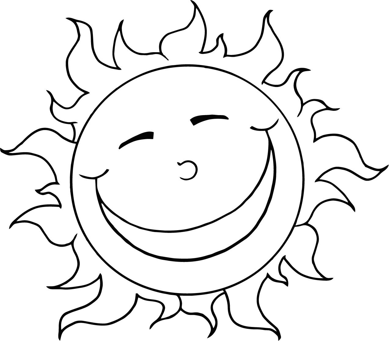 coloring page of the sun - Pictures For Kids To Color
