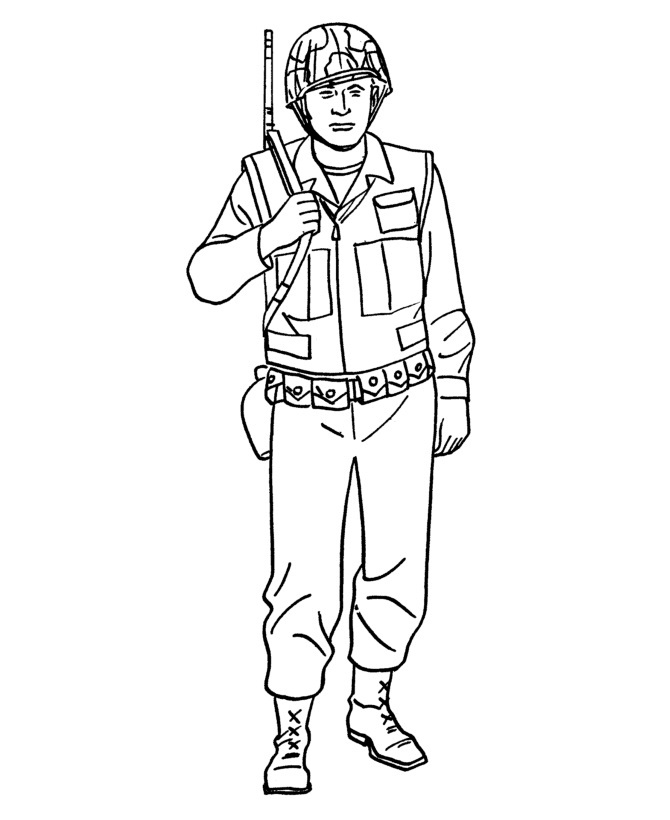 coloring pages army