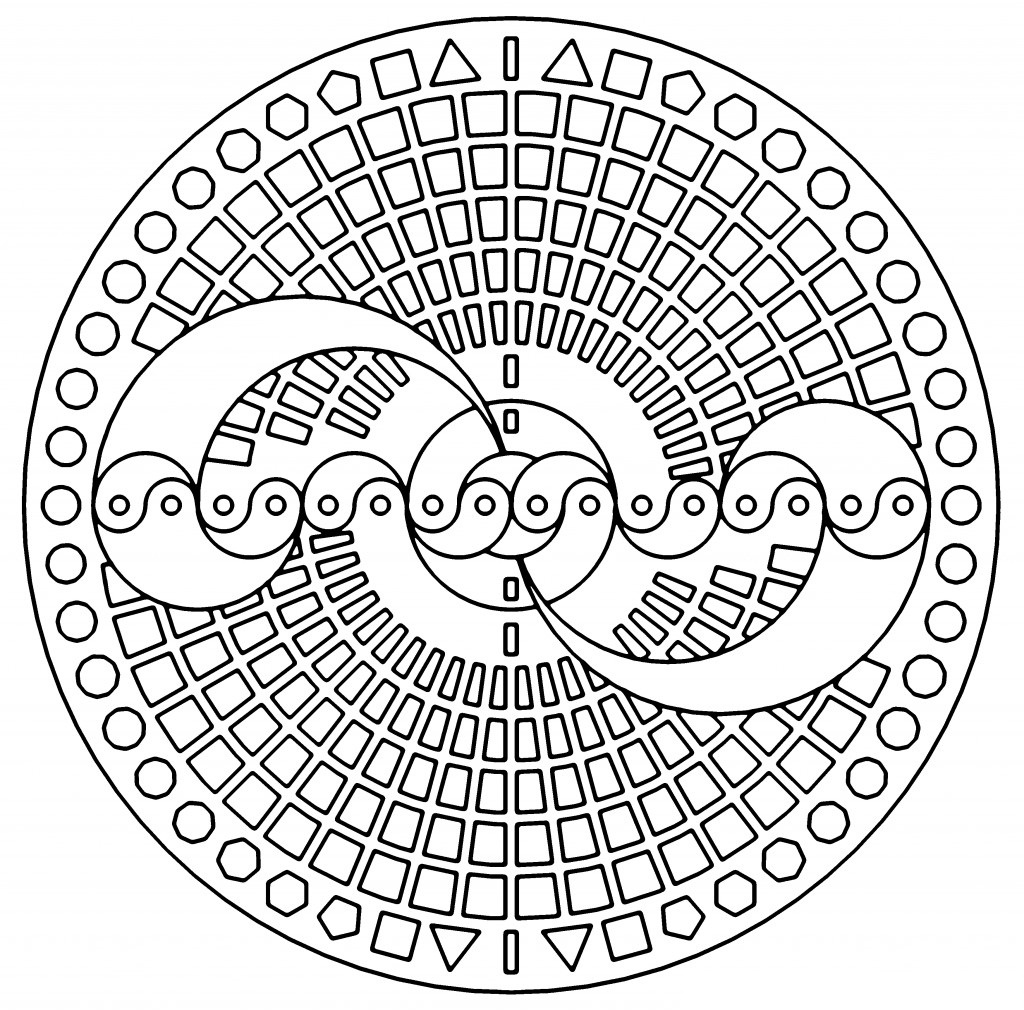 coloring pages for adults geometric - photo#8