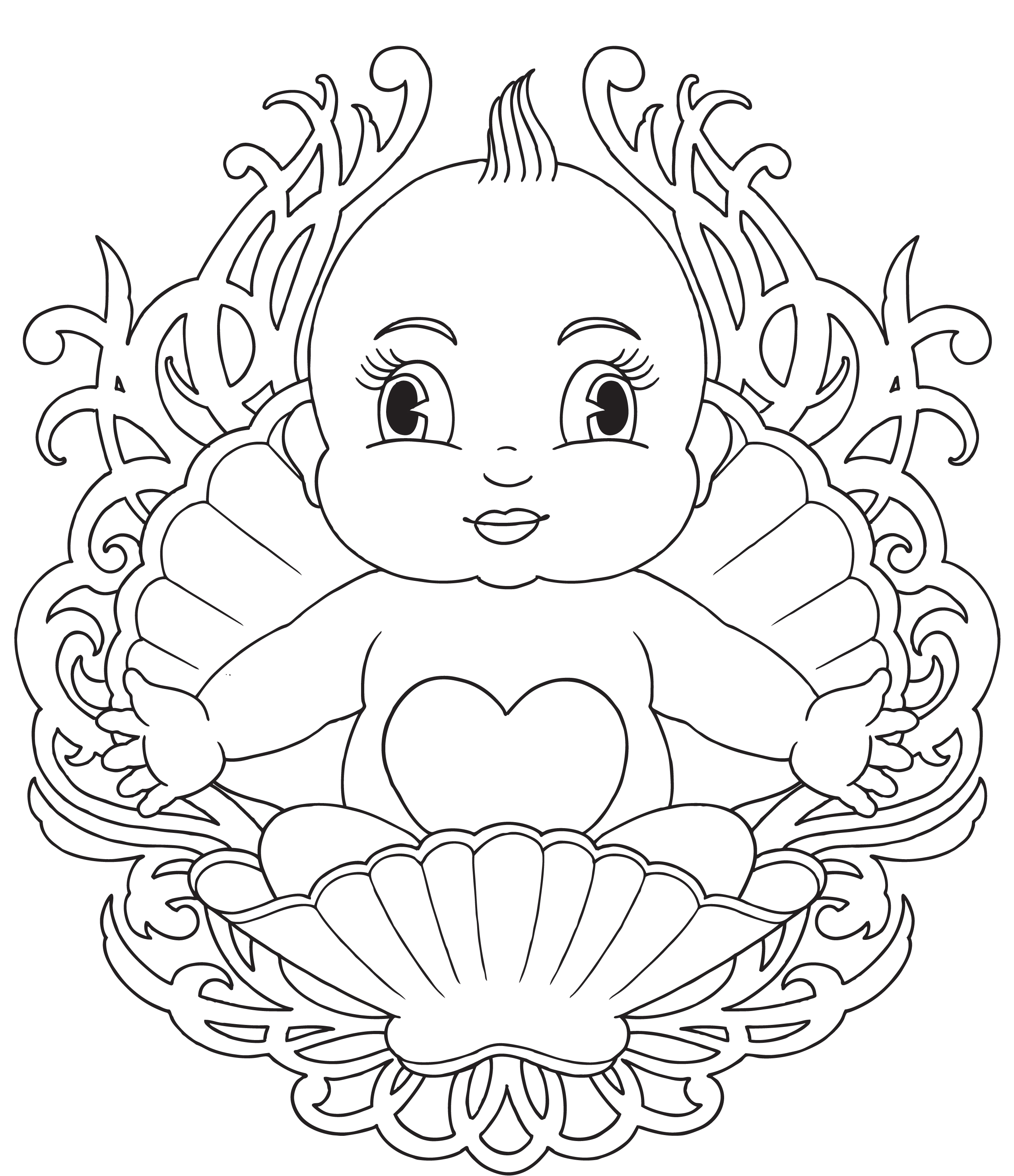 coloring pages of babies - Babies Coloring Pages