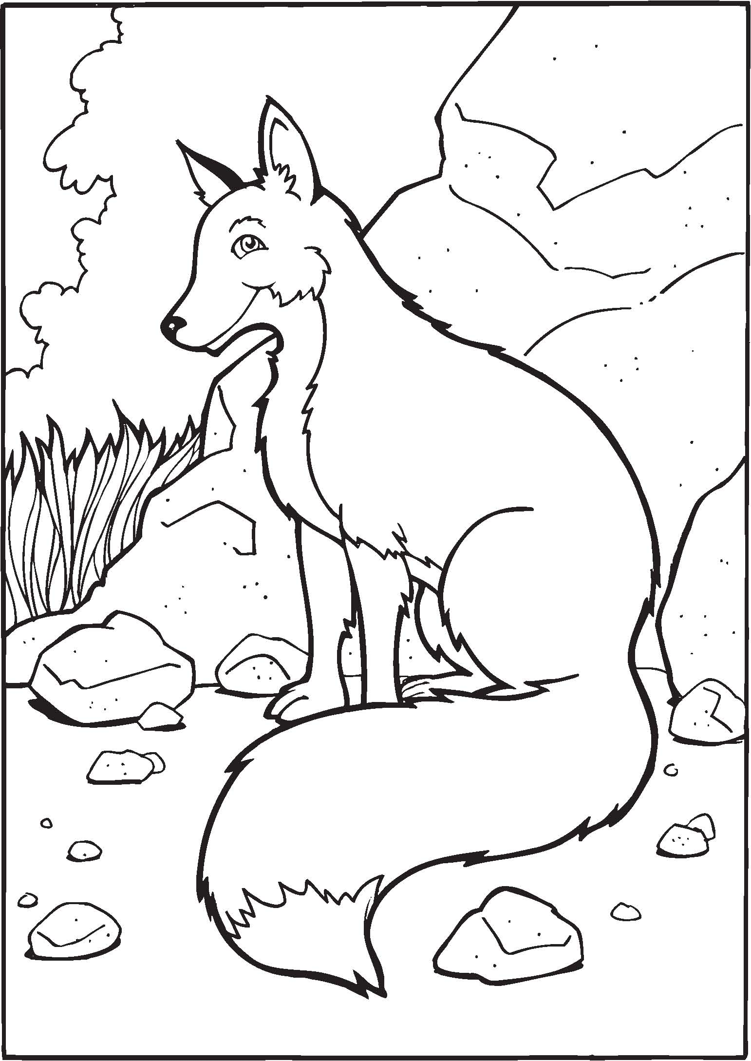 Geeky image for printable fox coloring pages