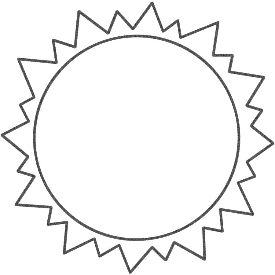 coloring pages of sun
