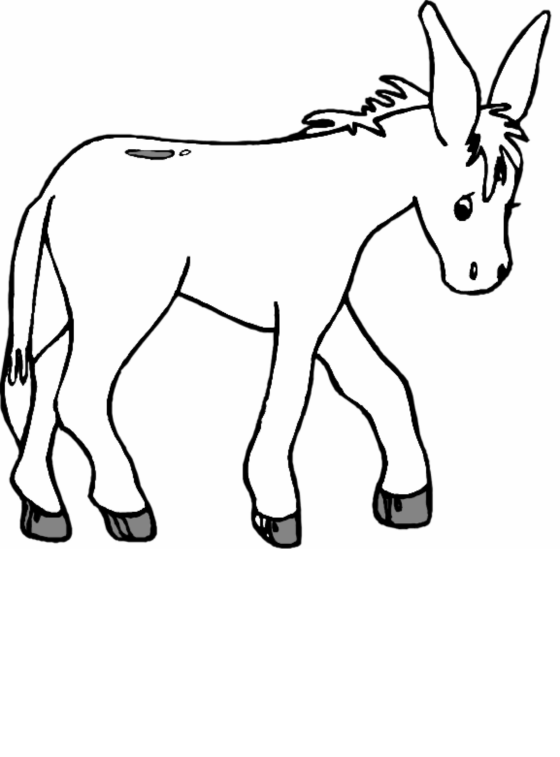 donkey coloring pages for kids - Donkey Coloring Pages