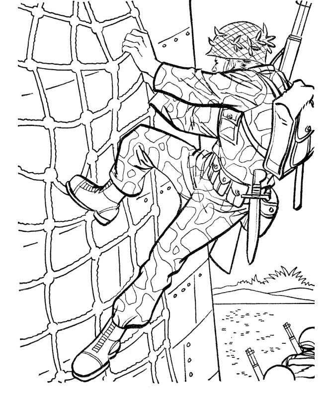 free army coloring pages