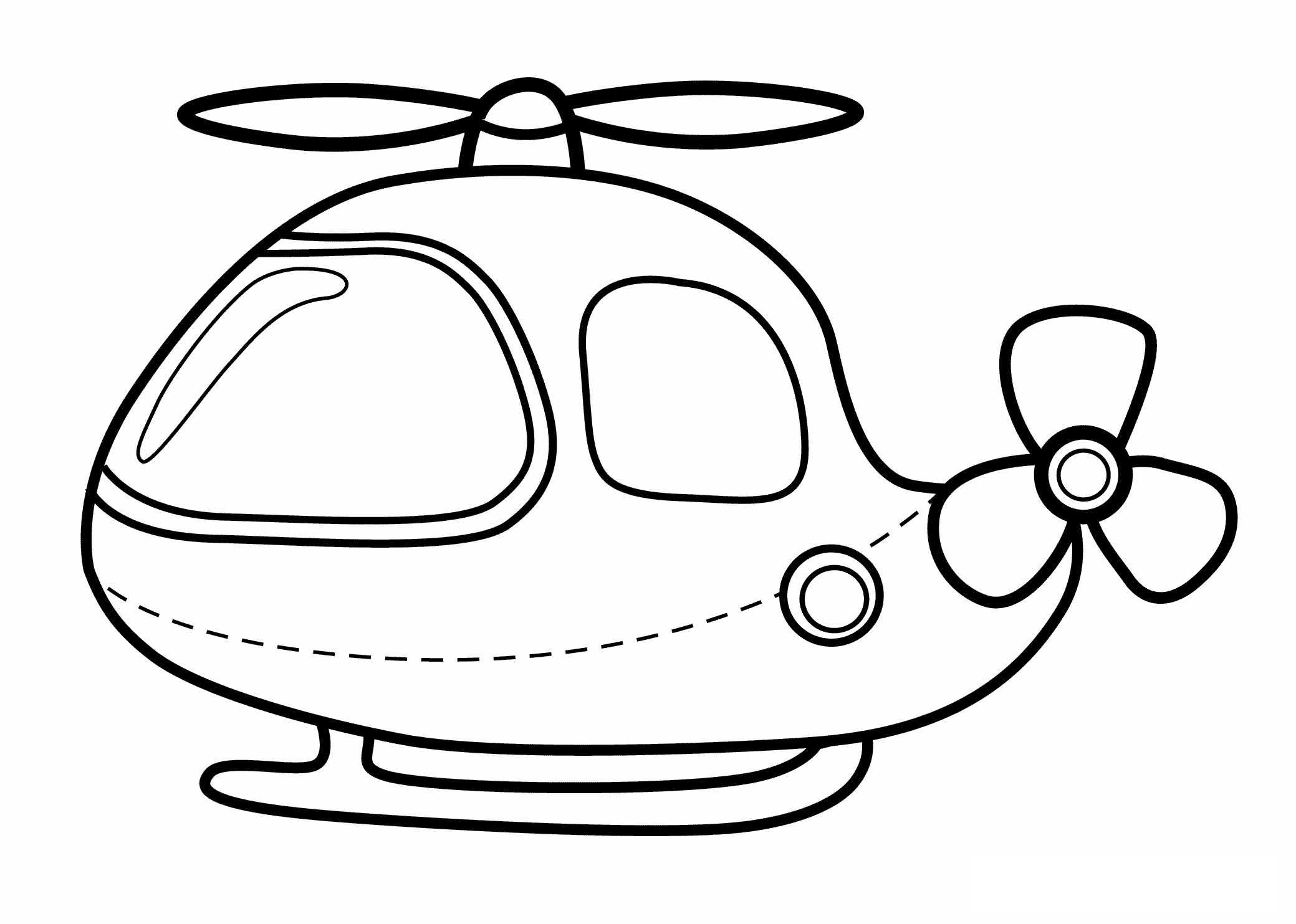 Printable Helicopter Coloring Pages Kids