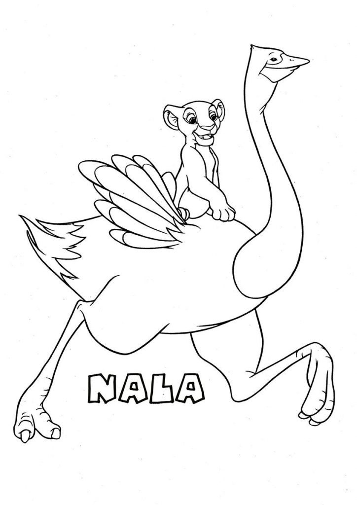 Free Ostrich Coloring Pages