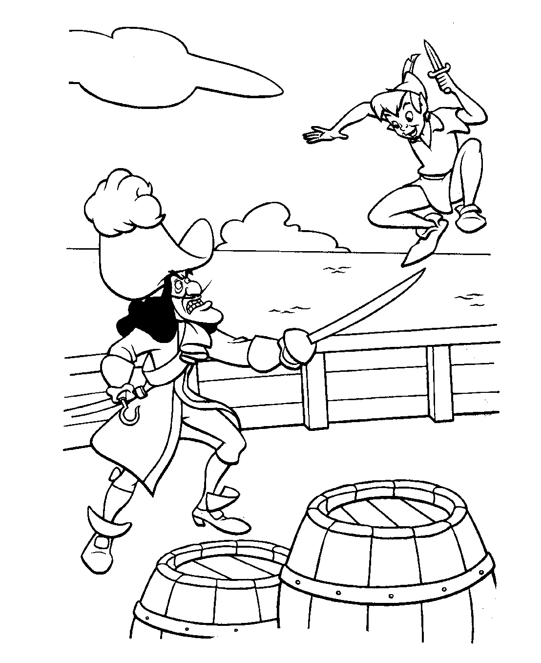 Peter pan coloring pages to print - Free Peter Pan Coloring Pages