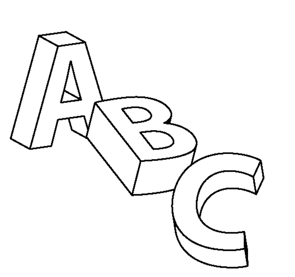 Coloring pages for alphabet - Childrens Colouring Pages Alphabet Free Printable Abc Coloring Pages