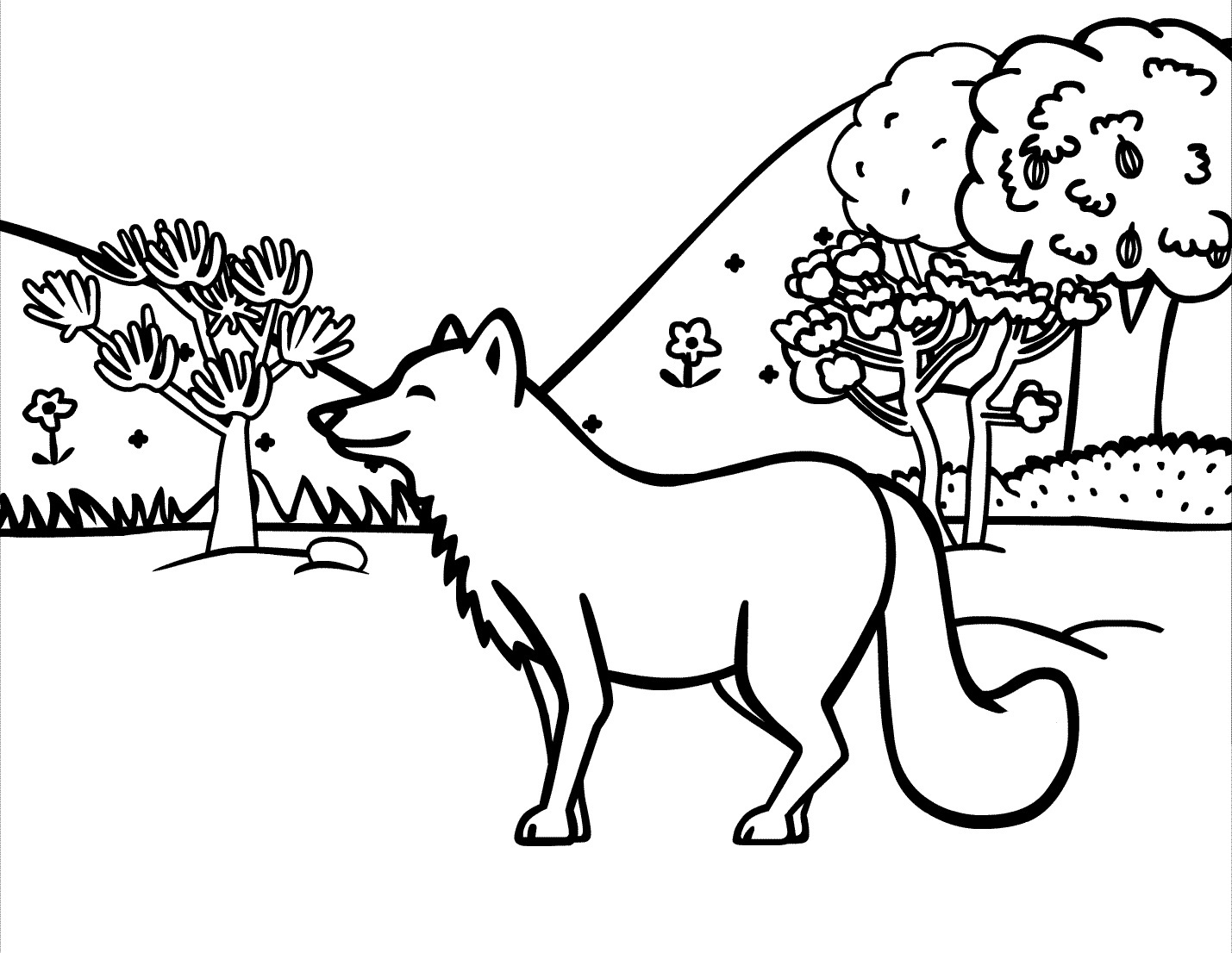 Geeky image with regard to printable fox coloring pages
