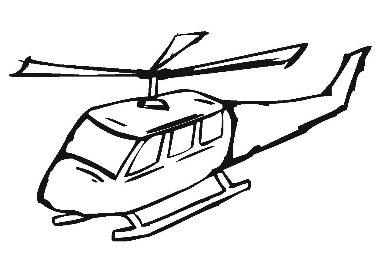coloring pages helicopter - photo#12