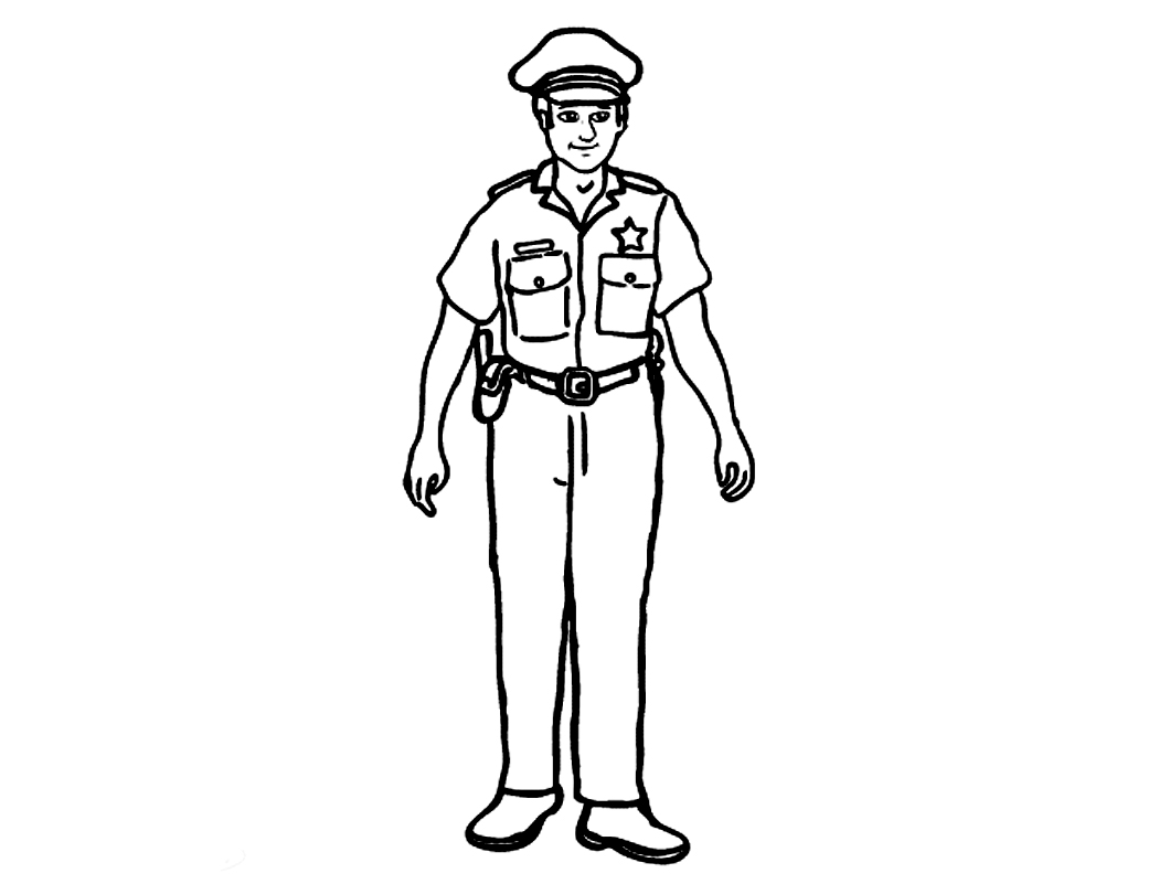 policeman coloring pages kids - photo#4