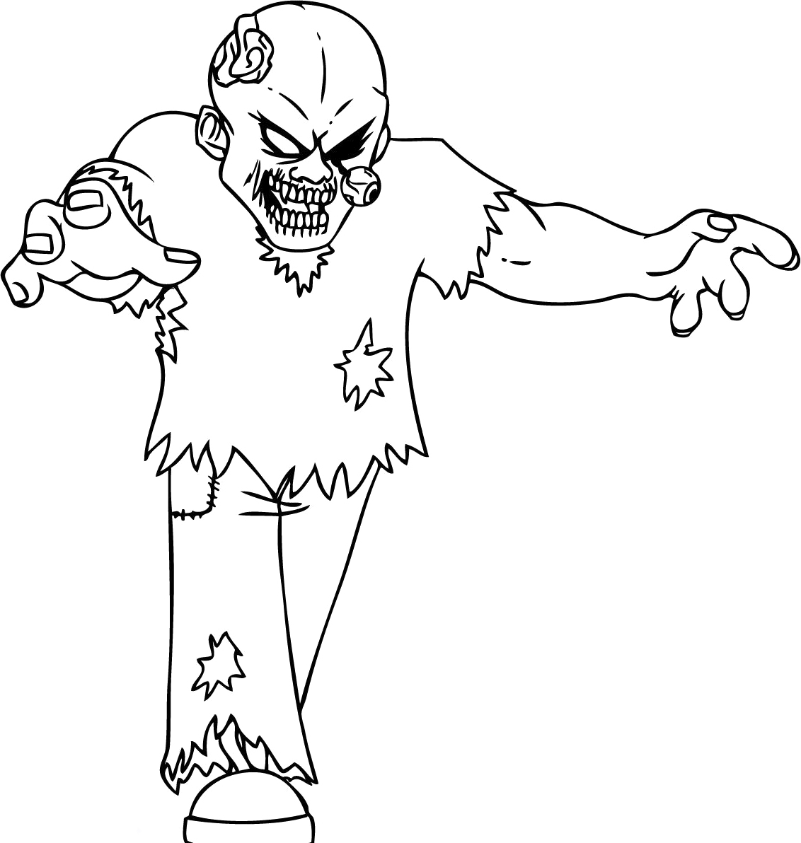 free printable zombie coloring pages - Zombie Coloring Pages