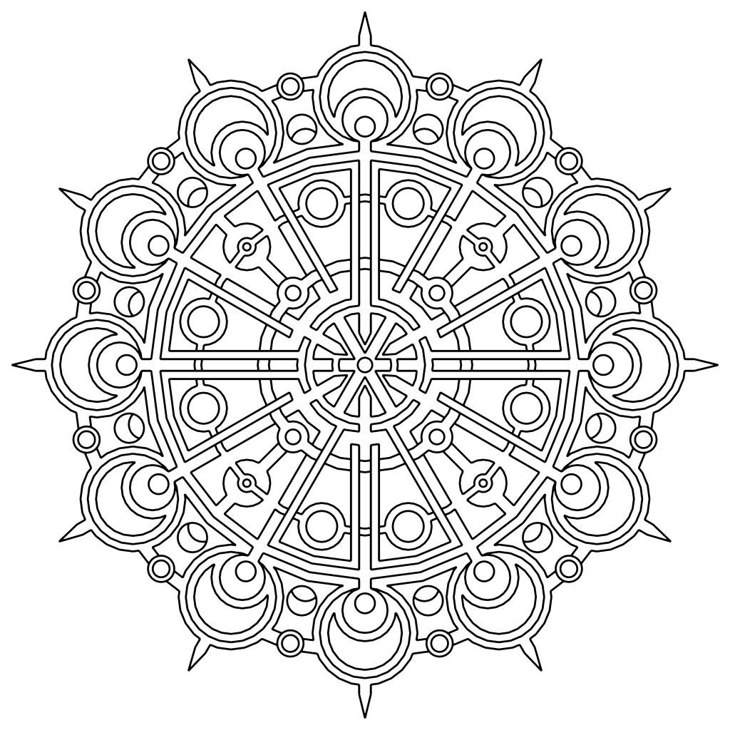 Free printable geometric coloring pages for kids for Hard coloring pages