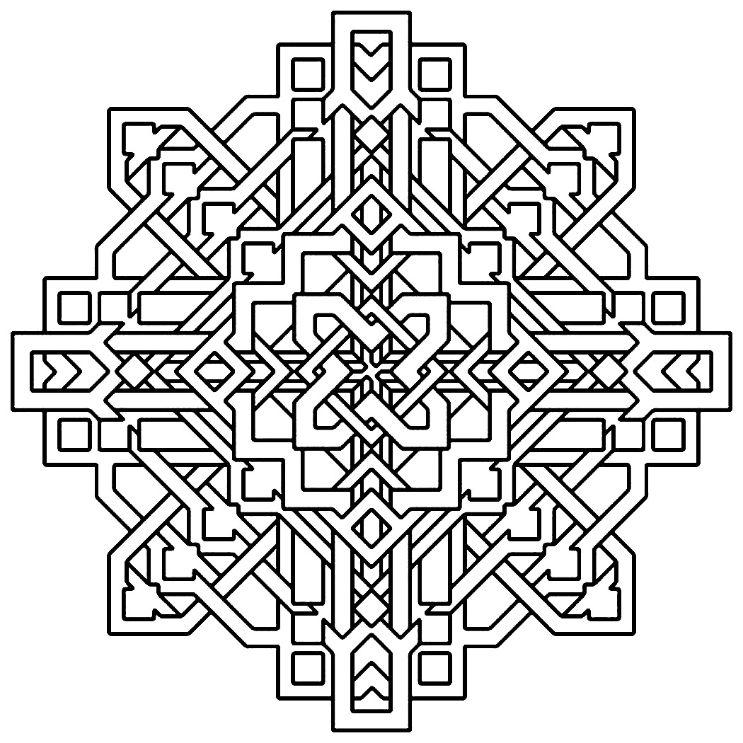 geometric coloring page - Geometric Coloring Pages