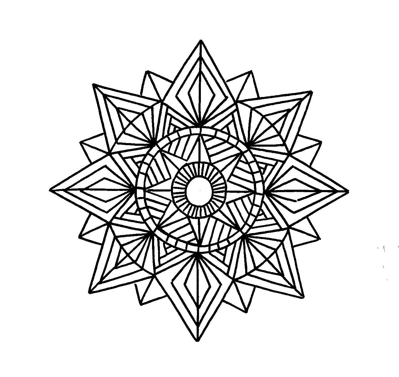 geometric printable coloring pages - Geometric Coloring Pages