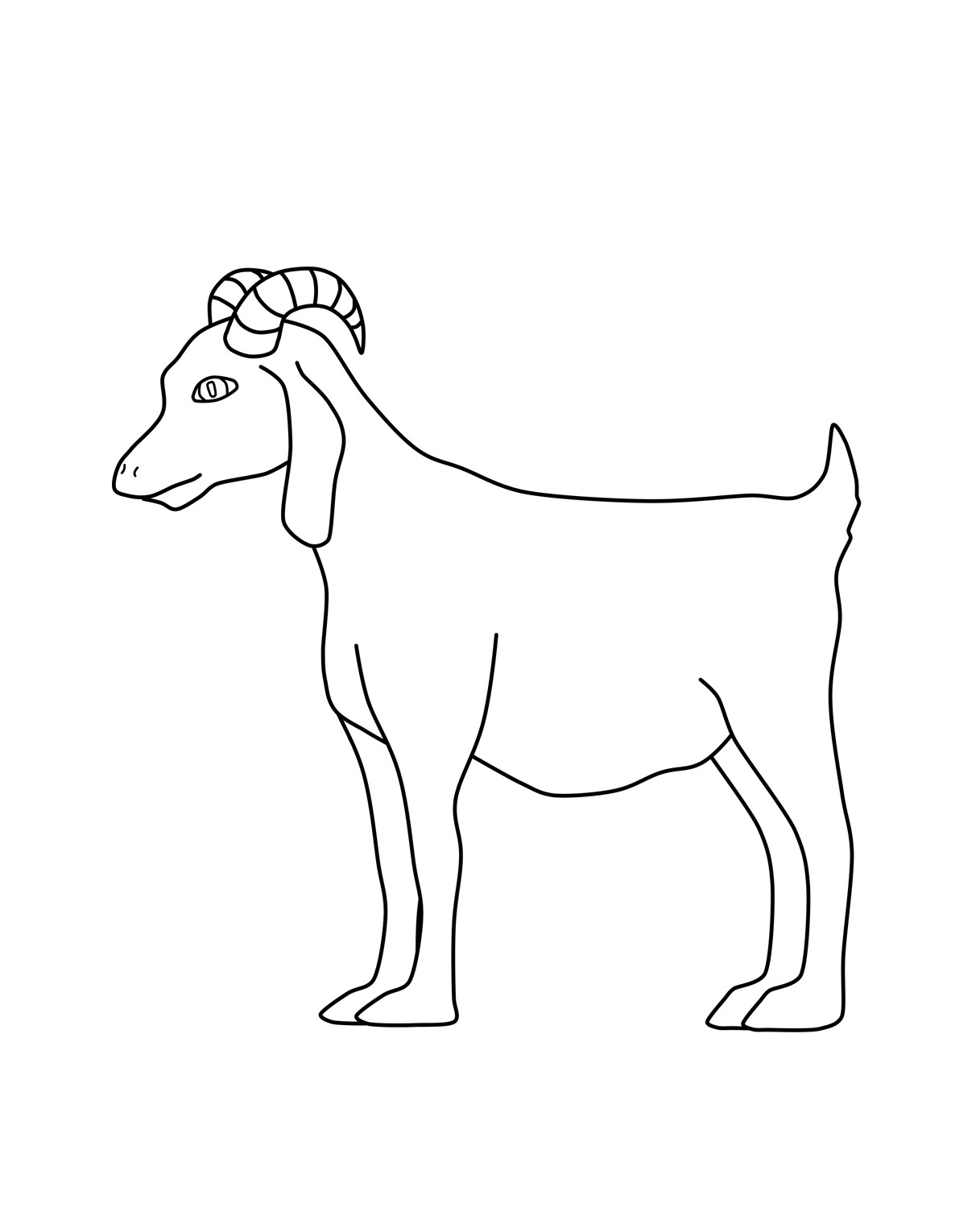 goat coloring pages free goat coloring page from super simple