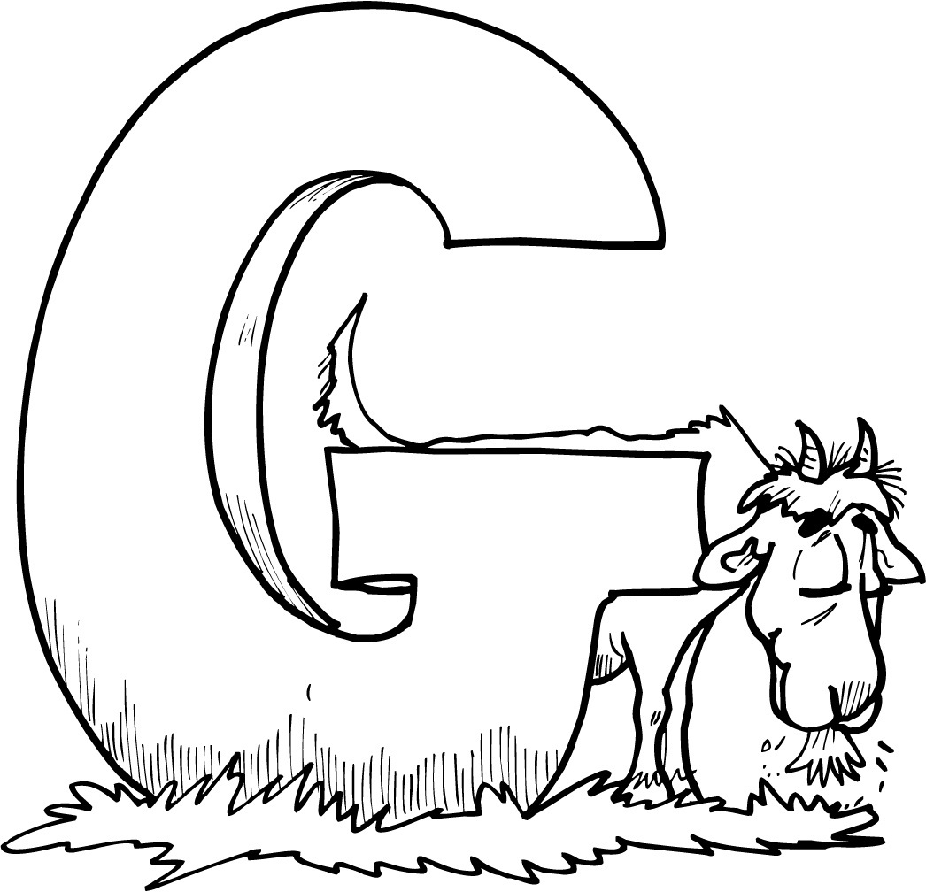 Free printable goat coloring pages for kids for Free alphabet coloring pages for toddlers