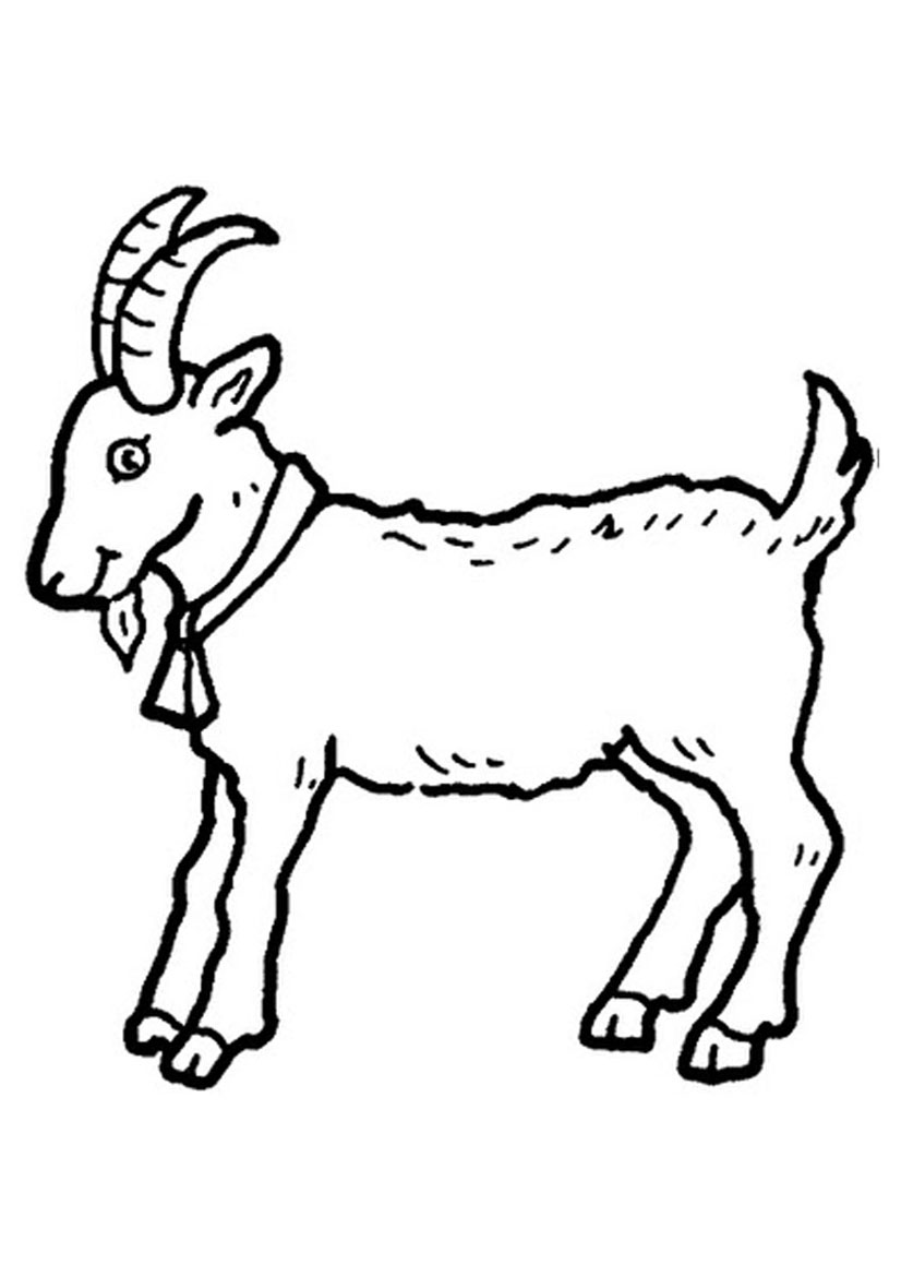 g for goat coloring pages - photo #18