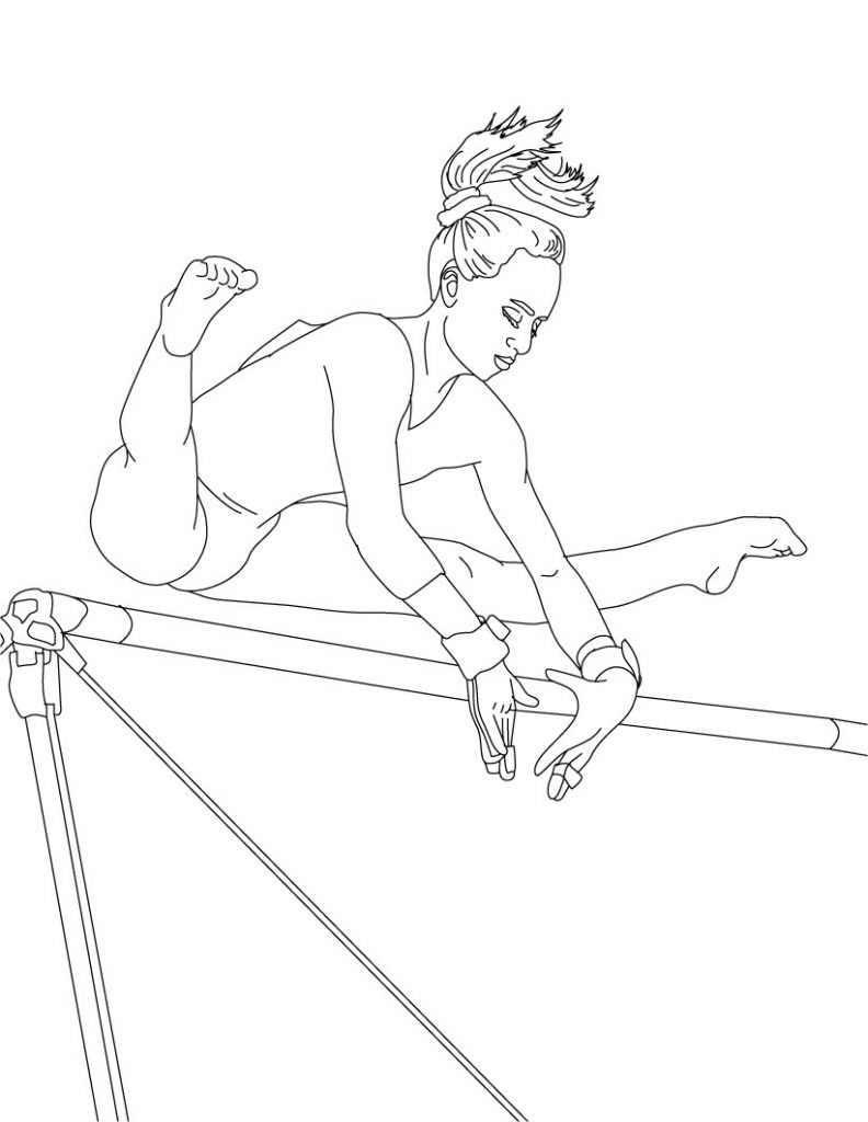 Coloring Pages For Youth : Free printable gymnastics coloring pages for kids