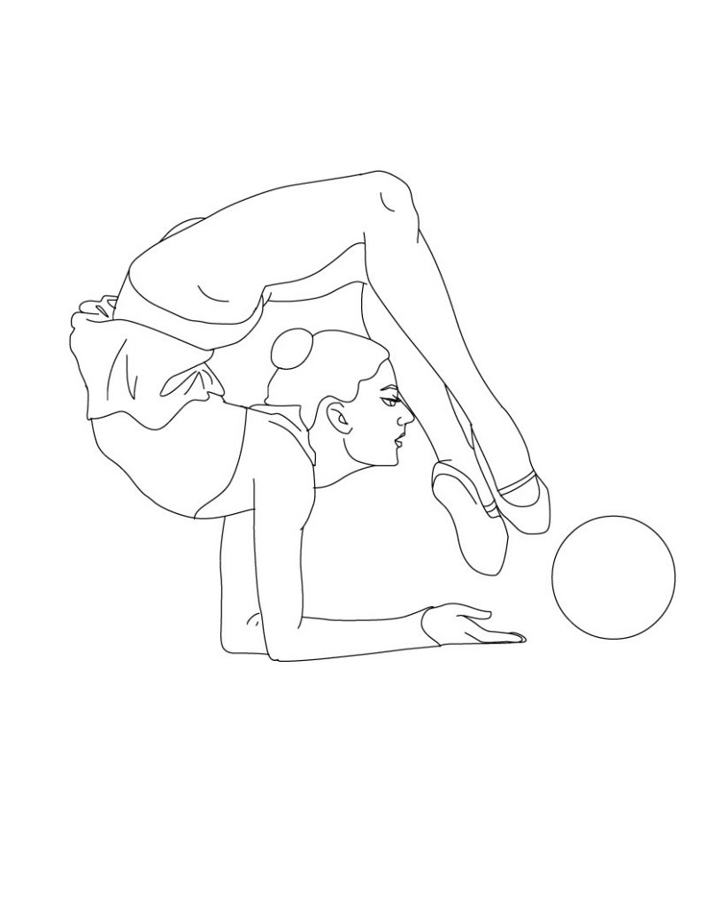 Free printable gymnastics coloring pages for kids for Photo to coloring page