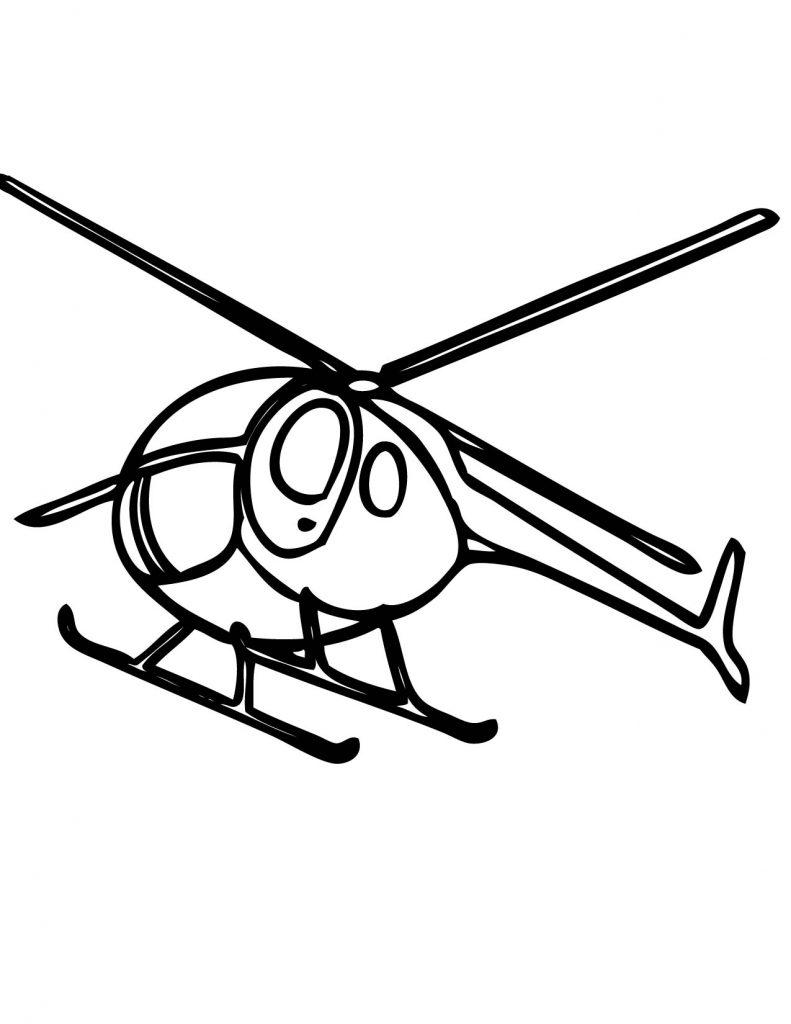 Helicopter Coloring Pages Images