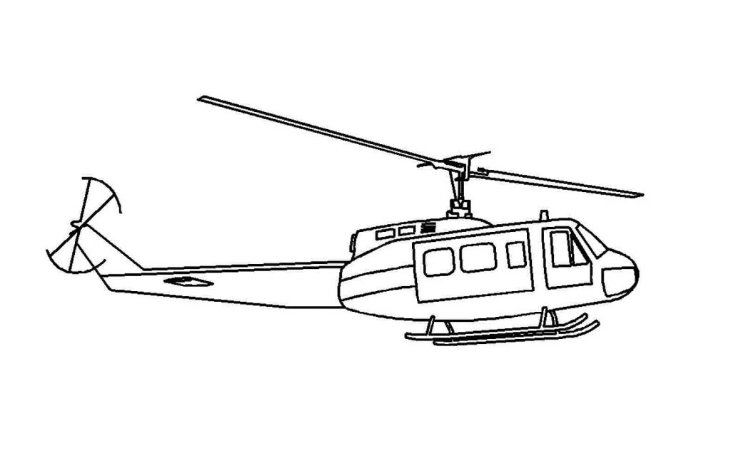 Helicopter Coloring Pages Photos