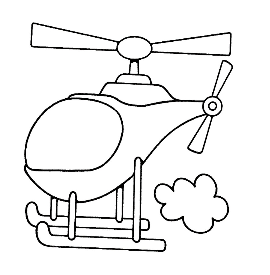 Coloring Pages For Kids Printable : Free printable helicopter coloring pages for kids