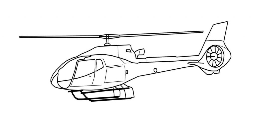 Helicopter Coloring Pages Printable
