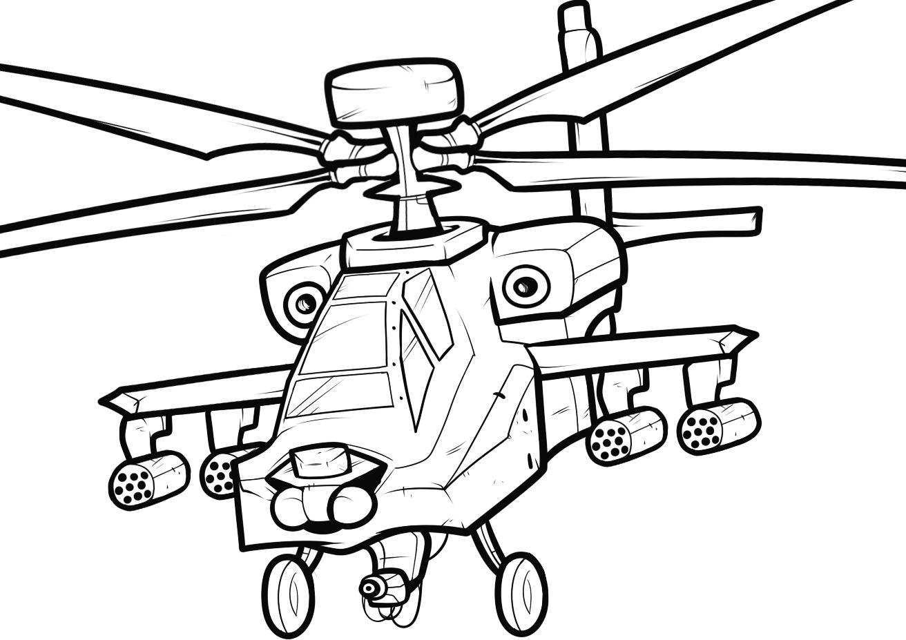 coloring pages helicopter - photo#3
