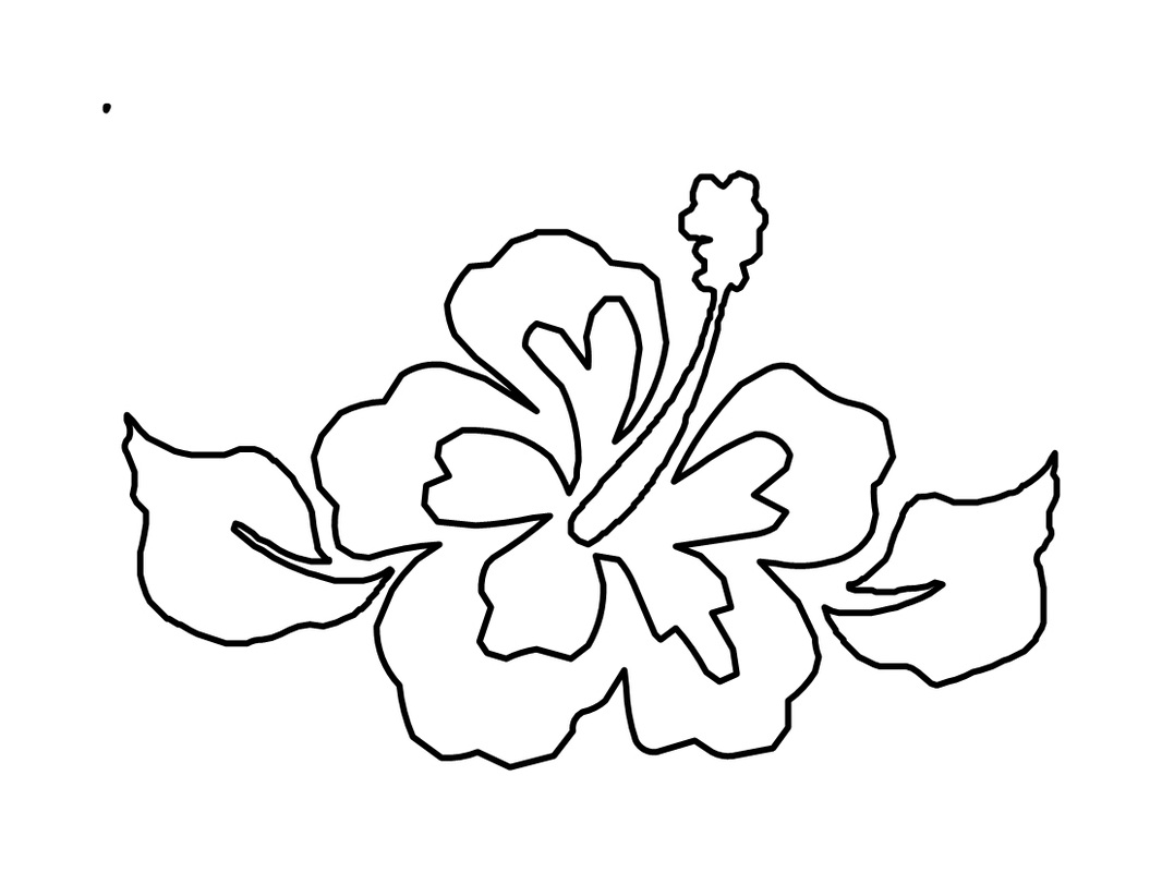 hibiscus coloring pages to print - Coloring Stencils