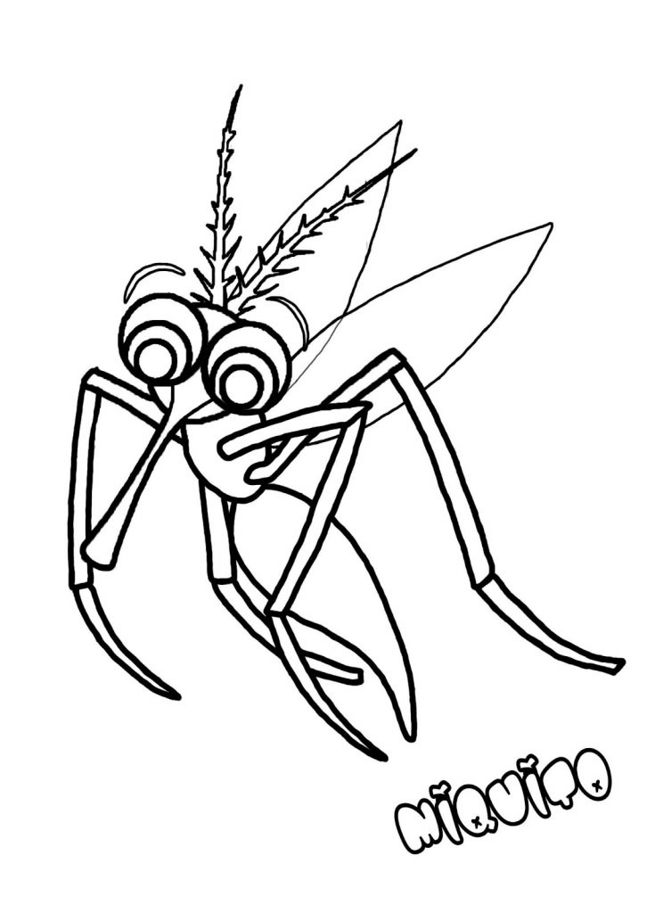 Mosquito Coloring Pages for Kids