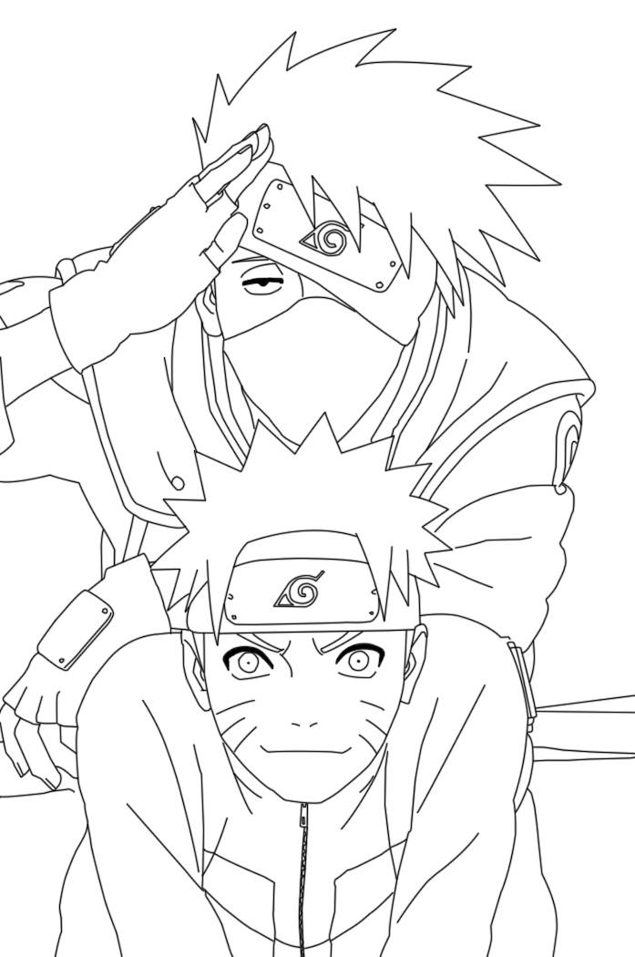 Sasuke And Naruto Vs Coloring Page