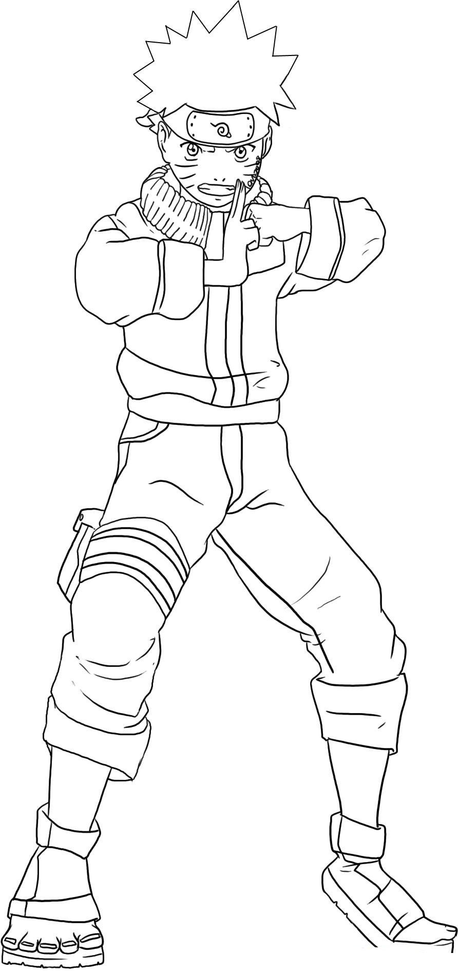 Free printable naruto coloring pages for kids for Tv coloring page