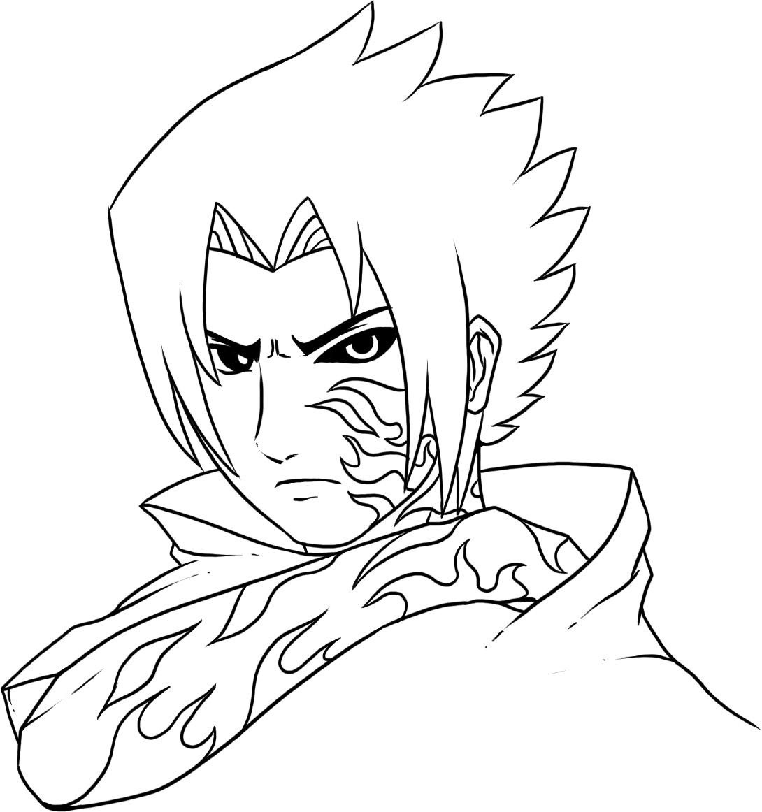 Free printable naruto coloring pages for kids for Anime character coloring pages