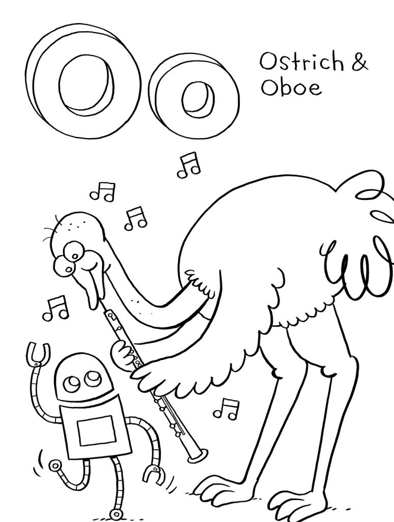 Ostrich Coloring Pages Photos
