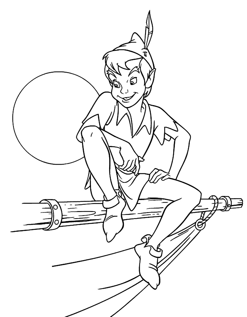 peter pan coloring book pages - photo#4