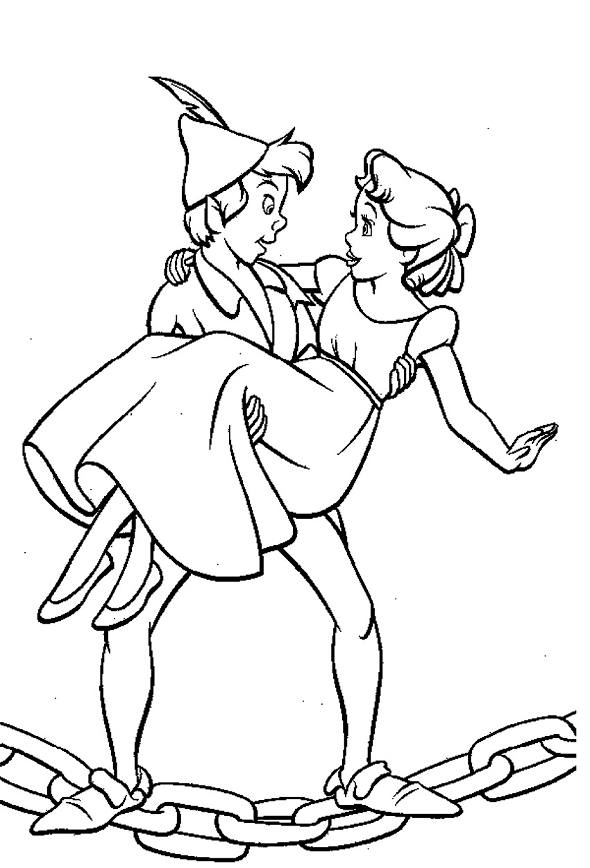 peter pan coloring book pages - photo#2