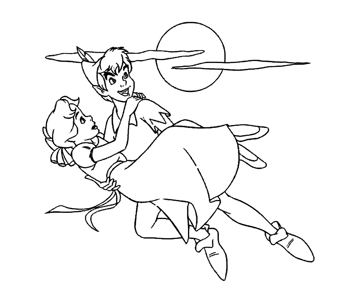 disney coloring pages peter pan - photo#15