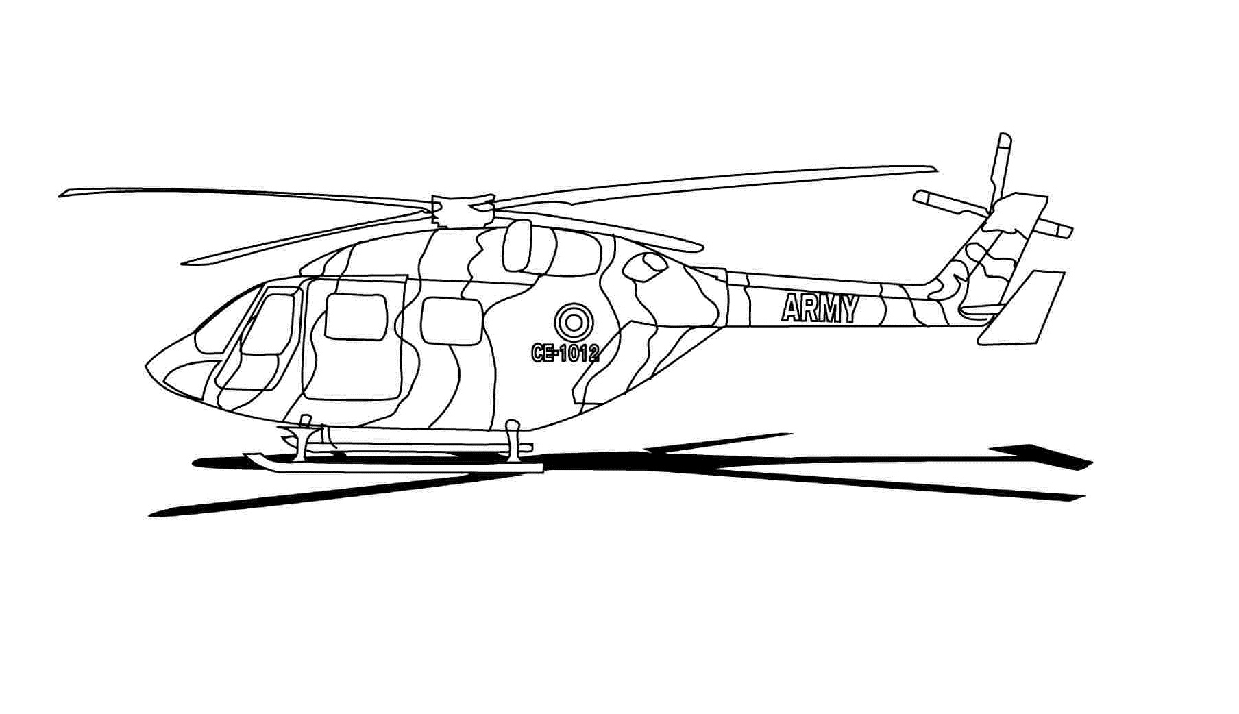 Helicopter Drawings To Color